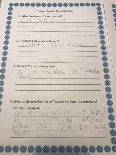 Seth has enjoyed his Geography work.