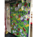 Our Journeys Display in the Key Stage Two Corridor