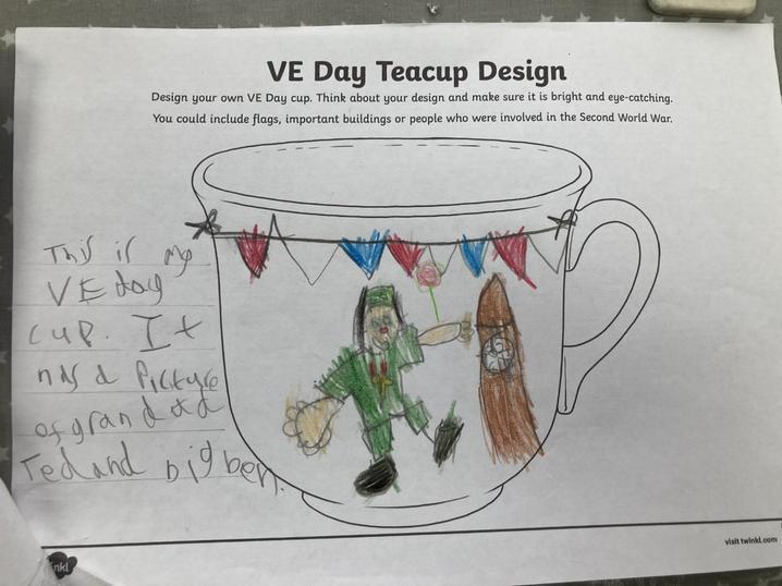 Myles's VE Day Tea Cup Design