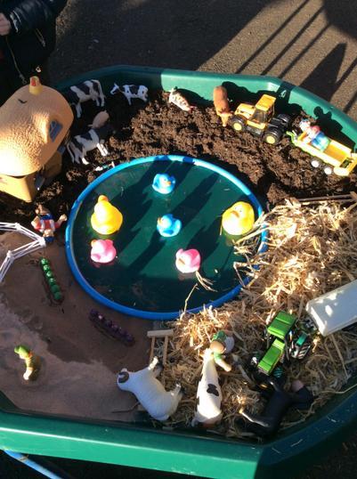 Farmyard small world play