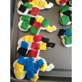 We made Elmer biscuits