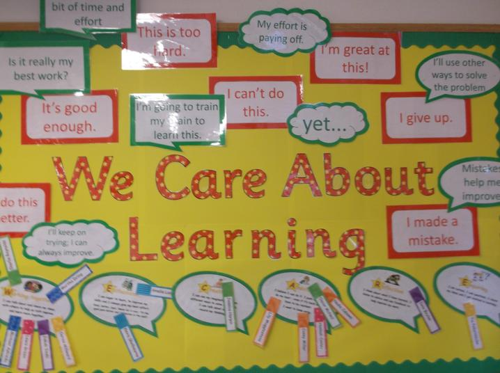 WE CARE ABOUT LEARNING What enables you to learn?
