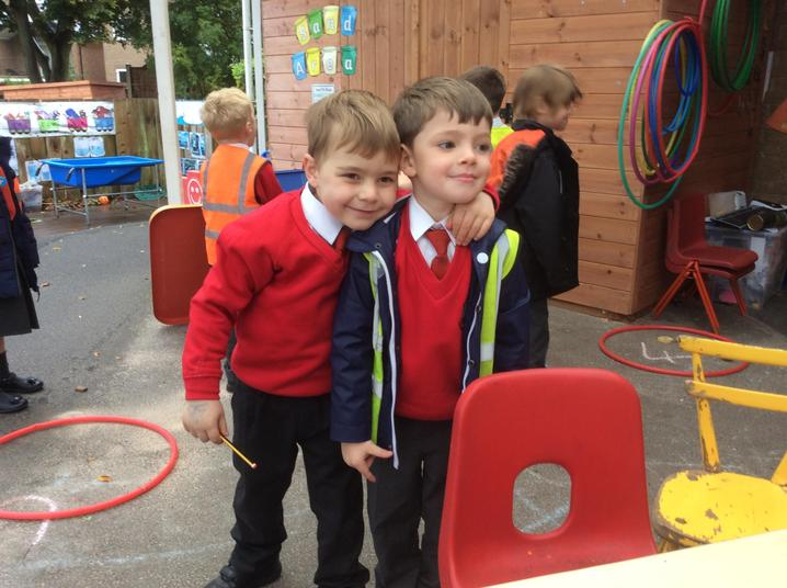 Friends together in Reception
