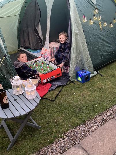 Lockdown camping in the garden!