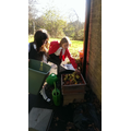 Our dedicated fruit bin girls.