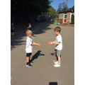 Throwing and catching in PE