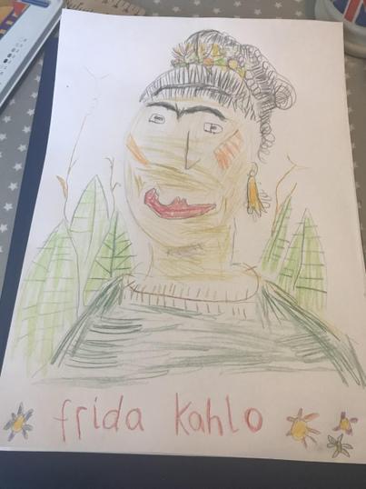 Seth's Frida Kahlo Portrait