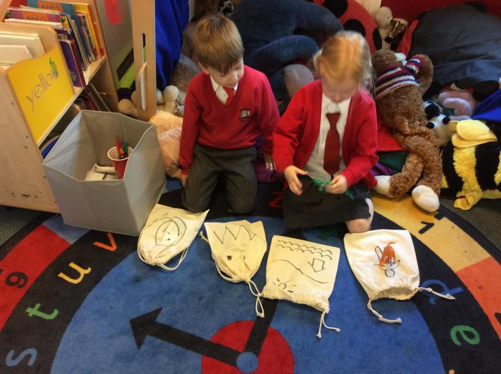 Practising our story.