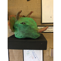 A model of a dinosaur head
