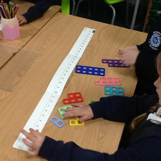 Number lines using Numicon
