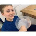 Bradley making slime