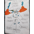 Chase's spacesuit