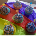Oliver's galaxy cupcakes