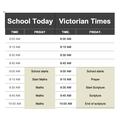 Jack's Victorian School Timetable