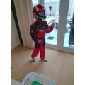 Alfie astronaut training