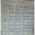 Ryley's Victorian School Timetable