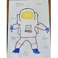 Alfie's spacesuit