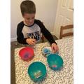 Lukas making slime