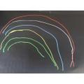 A chalk rainbow.