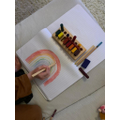 Making a rainbow!
