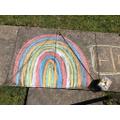 Chalk rainbows!