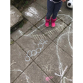 Chalking outside.