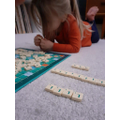Sorting letters.