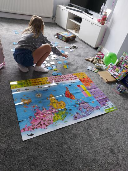 Olivia's been busy with this world map jigsaw