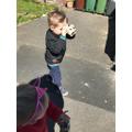 Making binoculars to help us find birds!