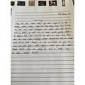 Mollie's diary writing 2