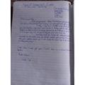 Sam's letter