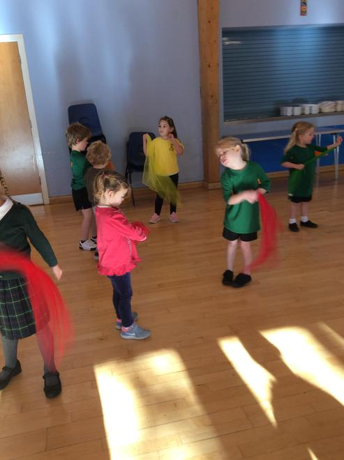 We enjoyed performing a 'firework dance'