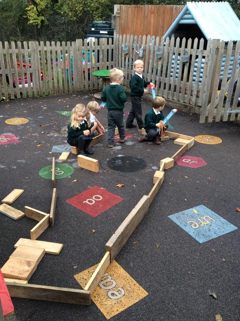 Constructing in the outdoor area