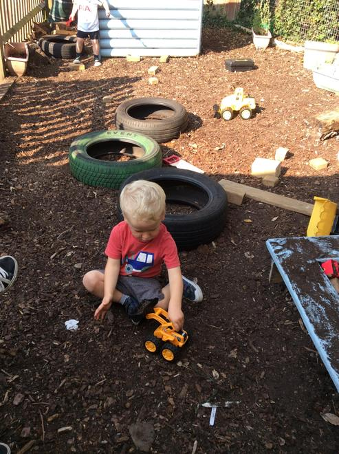 Enjoying the digging area