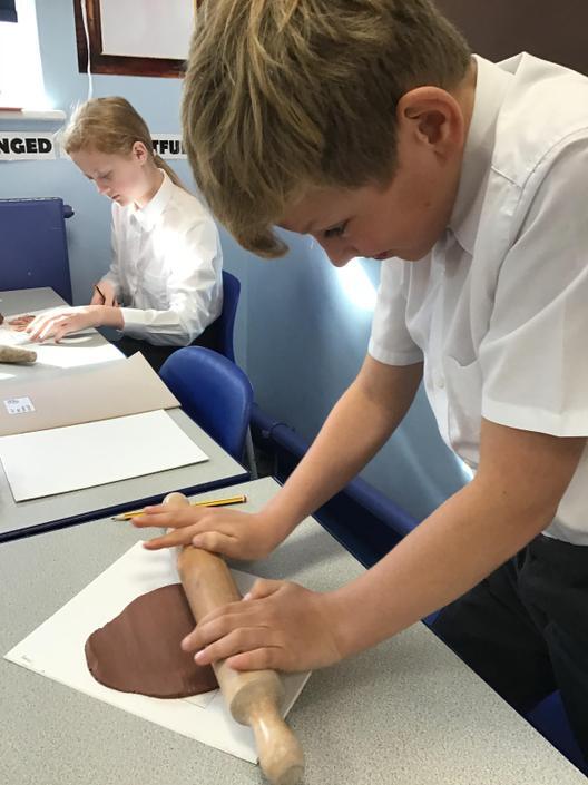Making Tudor Clay Tiles
