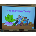 We read the story of The Enormous Turnip.
