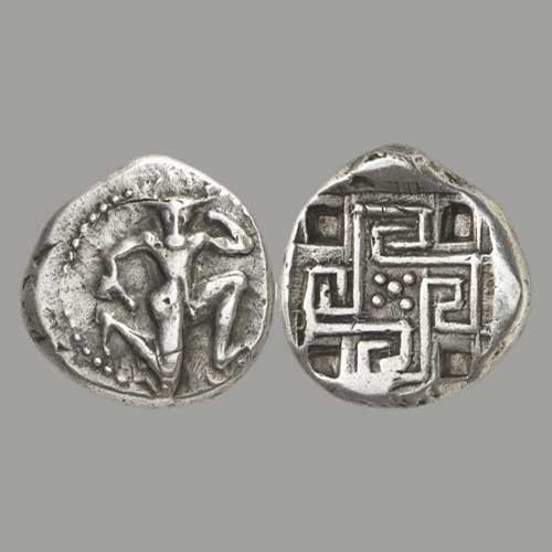 Coin with Minotaur and maze