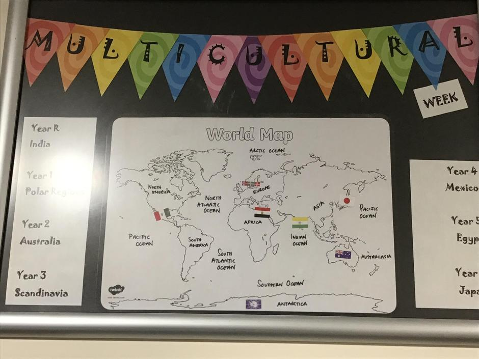 Multicultural Week - Counties displayed in Time Zone order