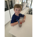 Ethan's smoothie creation