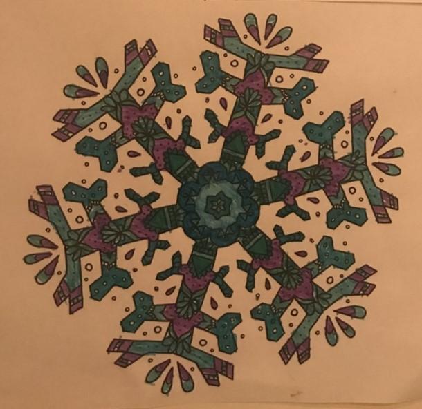 Sensational snowflake colouring (AH)