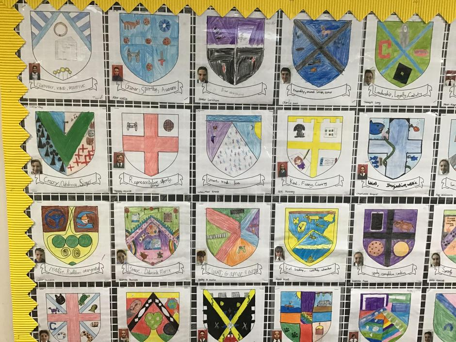 Our Tudor Family Crests
