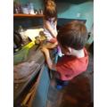 Evan in the kitchen!