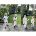 Mrs Nichol's assembly inspired Eliza (4M) and Fred (2M) to do 100 fencing lunges.