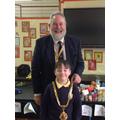 Hugo with the Mayor of Macclesfield, David Edwardes