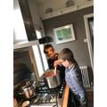 Ellis the chef!