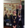 Annie with the Mayor of Macclesfield, David Edwardes