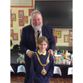 Leah with the Mayor of Macclesfield, David Edwardes