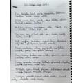 Carlos (6F) wrote 100 hopeful, happy words.