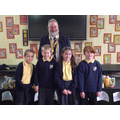 The Year 5 Student Councillors with the Mayor of Macclesfield, David Edwardes