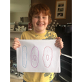 Ollie (4M) produced this with 100 dots.